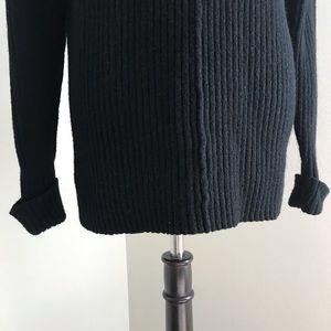 The Limited Sweaters - The Limited - Black V-Neck Knit Sweater